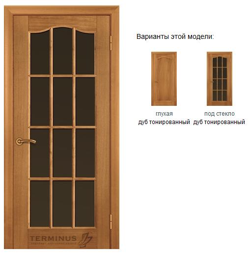 Купить Двери межкомнатные стеклянные Classic: Модель 02 дуб тонированный