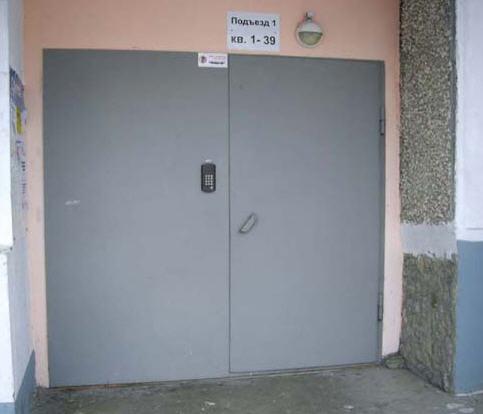 стоимость метал дверей входных в подъезд