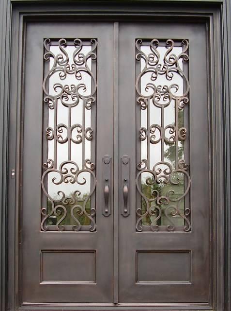 железные двери двойной
