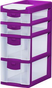 Пластиковый комод с выдвижными ящиками