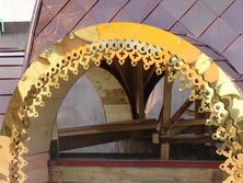 Материал облицовочный из полированной нержавеющей стали с покрытием нитридом титана. Цвет покрытия – под золото, бронзу, светлую медь, синий (кобальт)