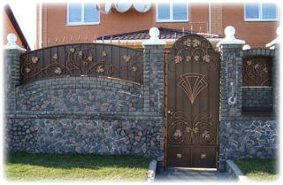 Купить Кованые ворота с калиткой, кованая калитка
