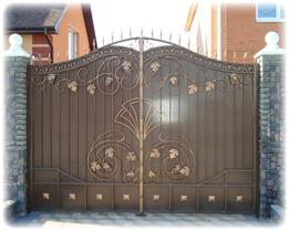 Купить Ворота кованые фасадные, кованые калитки и кованые ворота
