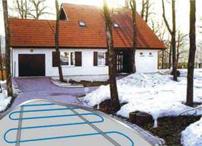 Системы снеготаяния, снеготаяние на основе нагревательного кабеля ЭКСОН™