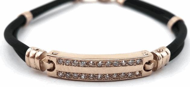 каучуковый браслет с золотом