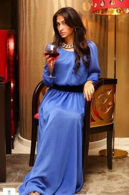 f42d8c33259 Платье синее шифоновое в пол на резинке купить в Днепр