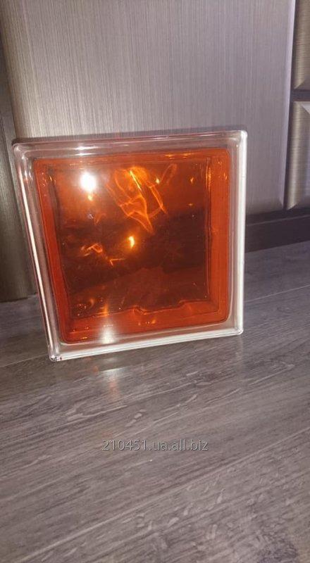 Стеклоблок оранжевый Brilly 1908\W яркий (Чехия)