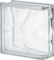 Стеклоблок торцевой 1908\W Linear End Wave прозрачный - Чехия