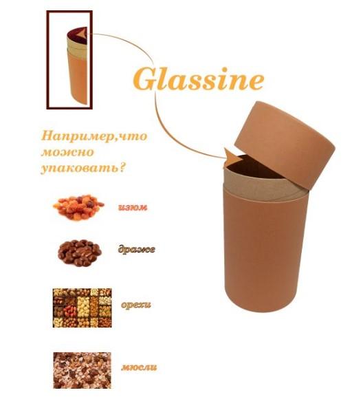 Купить Картонный тубус с жиростойким слоем Glassine.