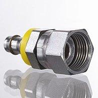 Mini pressure regulators, discharge port on thread, plug-in connector - K-KDR STECK