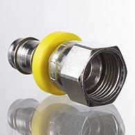 Mini pressure regulators, discharge port on thread, quick-lock screw fitting - K-KDR SCHNVERSCHR