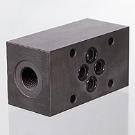 Bidirectional flow control valves, air restriction at both ends (B), plug-in connector - K-DV STECK B SCHLITZ