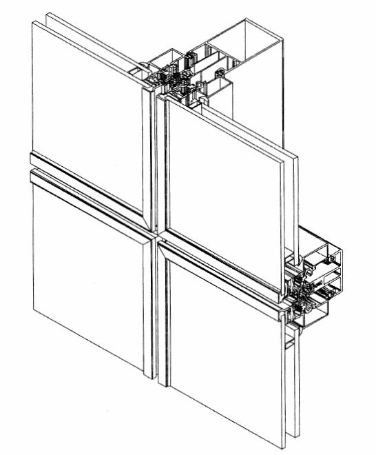 Купить Алюминиевые профили ТЕКНО фасад 60 П- фасадные стоично-ригельные строительные системы для изготовления ограждающих светопрозрачных конструкций и вентилируемых фасадов различной сложности.