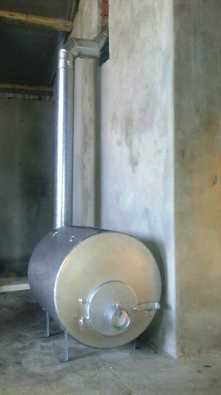 Купить Печь отопительная, на дровах, пиролизная. 5кВт. 150 м куб. Экономнее чем буржуйка.