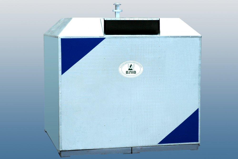 Купить Контейнер металлический для раздельного (селективного) сбора ресурсоценных материалов и ТБО (мусорный контейнер) КБ4