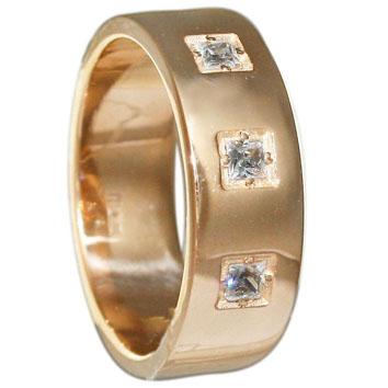 Купить Кольцо обручальное, золото Au 585° пробы со вставками из драгоценных камней, код - ОК206