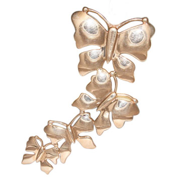 Купить Брошь Венера, белое и красное золото Au 585° пробы, ср. вес 8.07 гр, код - БШ034