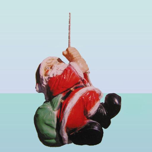 Купить Новогодняя фигура Дед Мороз на верёвке