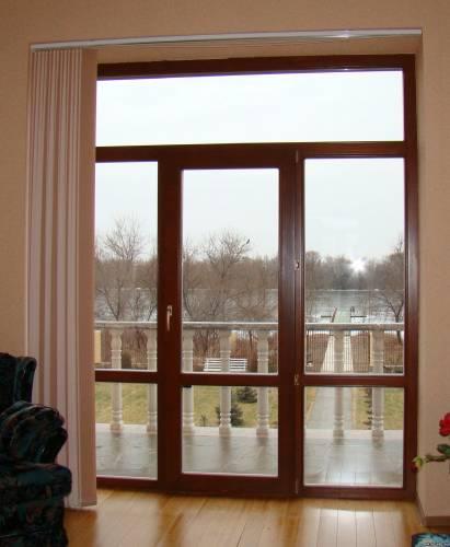 Balcony Doors Of All Types And Sizes, Balcony Block, Glazing Of An Exit To  A Balcony Or Loggia. Metalplastic, Aluminum Doors.