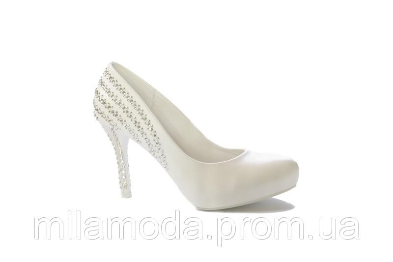 99ac6ba8d28a47 Туфлі жіночі золотаві на каблуці весільні купити в Одеса