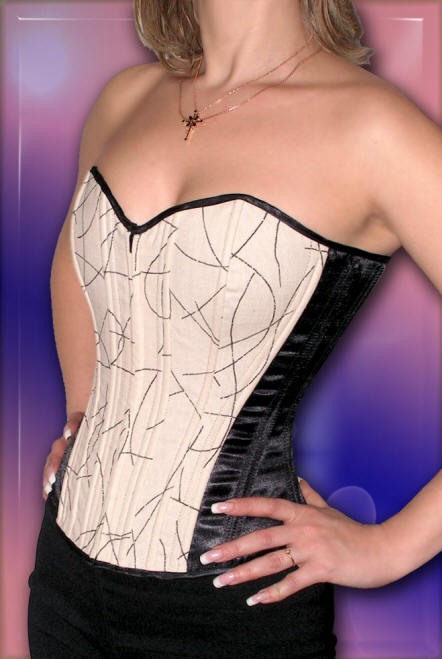 Buy The prices fell to the Corset from flax with black inserts from the atlas on each side, to buy in Kiev