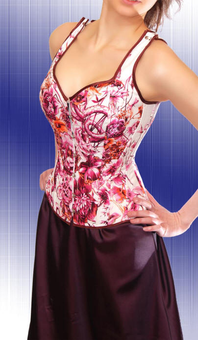 Buy Full sales. A corset with straps from nominal silk