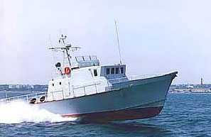 Катер КАФА 2400 быстроходный служебный морской двухвинтовой глиссер с комбинированными обводами
