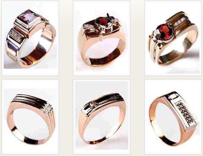 мужские золотые кольца 585 каталог