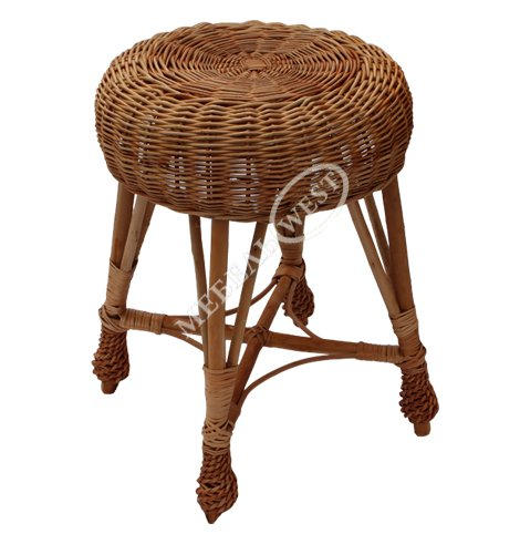 Недорогая плетеная мебель, Табурет из лозы оплетенный