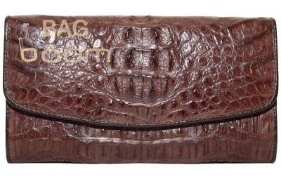 Женское портмоне из кожи крокодила ( PCM 03 H Brown)