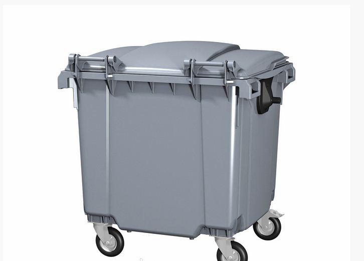 Мусорные контейнеры для ТБО (1100 л) Серый