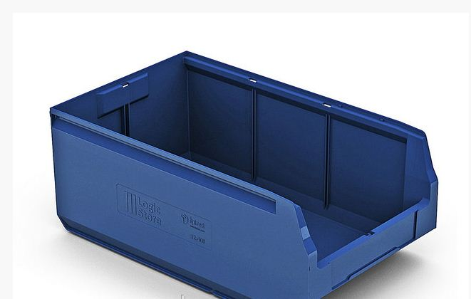 Пластиковый складской лоток 500х300х200 мм