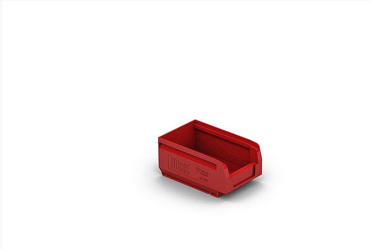 Пластиковый складской лоток 165х100х75 мм Красный