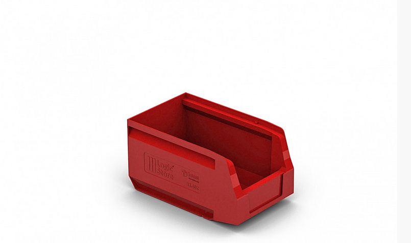 Пластиковый складской лоток 250х150х130 мм Красный