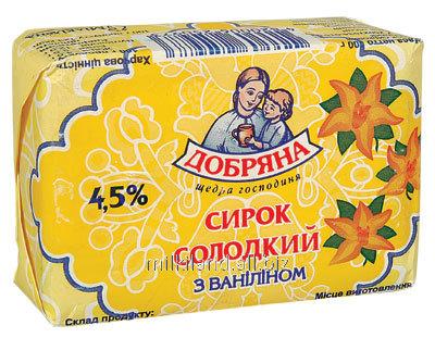 """Купити Сирок солодкий з ваніліном, суцільномолочна продукція ТМ """"Добряна"""""""