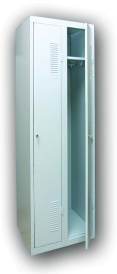 Металлический шкаф на 2 секции ШОМ-300/2 (1800х600х500 мм.)