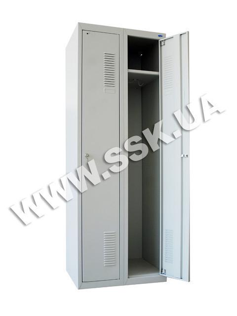 Металлический шкаф на 2 секции ШОП-300/2 усиленной конструкции (1800х600х500 мм.)