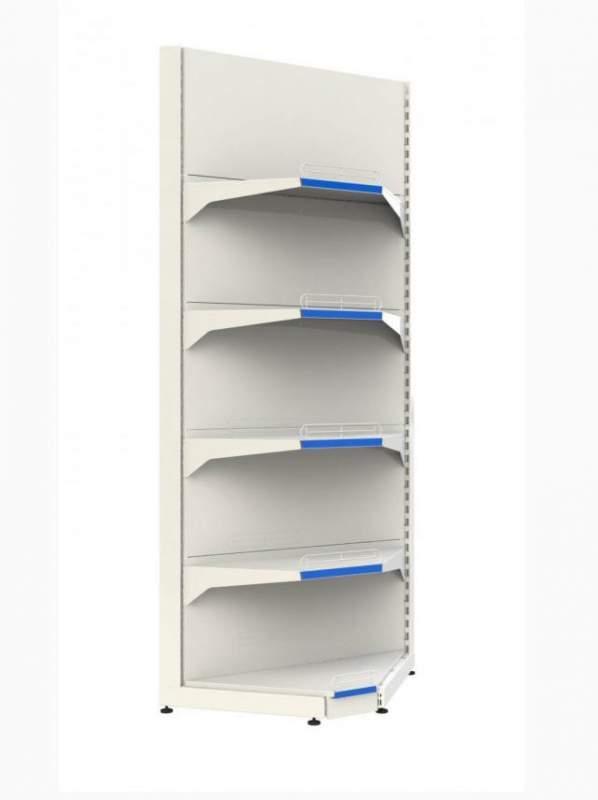 Торговый стеллаж угловой внутренний (90 грд./45 грд.)