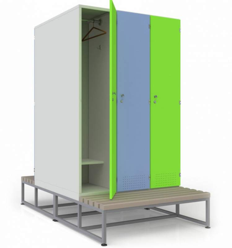 Шкаф для раздевалок ПРЕМИУМ 3х2