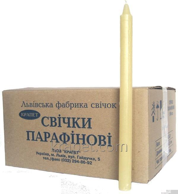 """Свечи парафиновые """"Хозяйственные"""" №30, d20 мм; (в ящике по 100 шт)"""