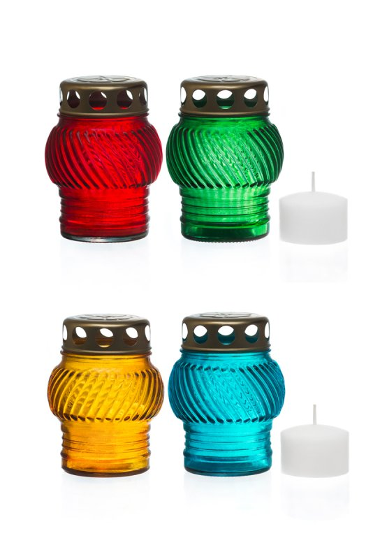 Icon lamp glass R-35 (colors in assortment)