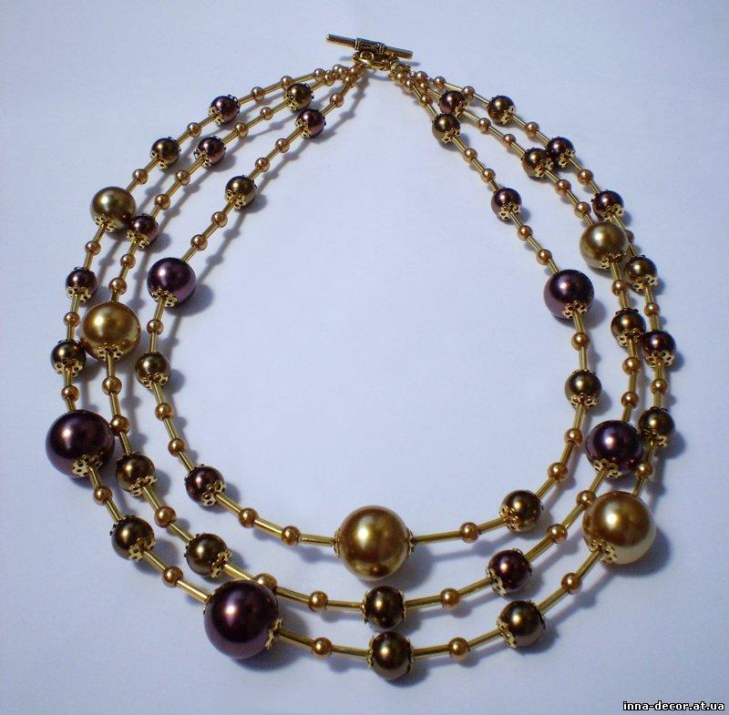 aa3ba9d33026 Бижутерия, украшения ручной работы - ожерелье (бусы) ЖЕМЧУЖНАЯ ГАЛАКТИКА из  чешского стекла