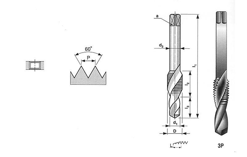 Купить Сверла комбинированные с метчиком М Bučovice Tools (Чехия)