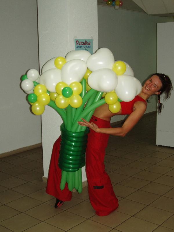 Цветы из шариков киев купить купить ювелирные изделия оао русские самоцветы
