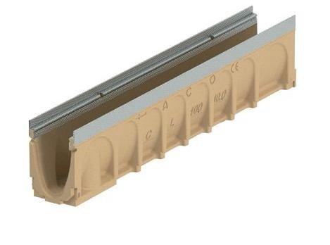 Канал ACO Civicline CL100, тип 10.0 з оцинк. кромкою, h=200мм, 1 м