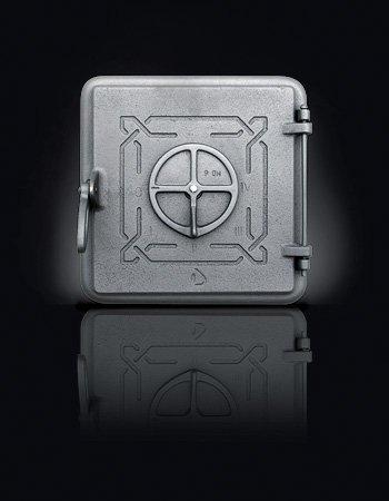 Печные двери Domino 150*265 (210*110) Серые