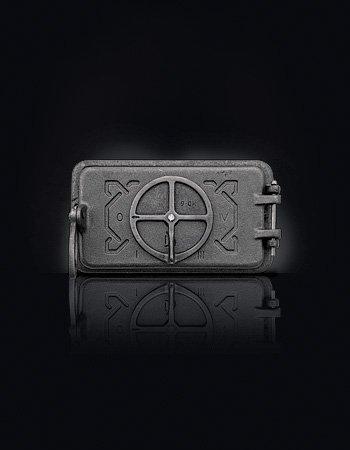Зольные дверцы для печи серые DOMINO (150X265/210X110)