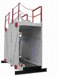 Купить Клеть шахтная неопрокидная КНМ для спуска-подъема людей, транспортирования шахтных вагонеток, а также оборудования и вспомогательных материалов по вертикальным стволам шахт угольной и горнорудной промышленности