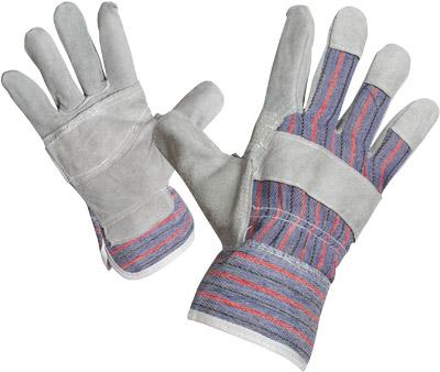 Перчатки комбинированные спилк+х/б
