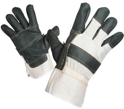 Перчатки комбинированные кожа+х/б
